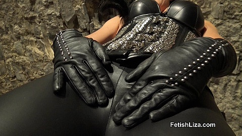 Chastity leather slave