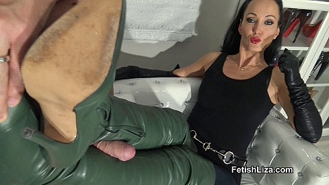 Cum on the fan's favourite boots