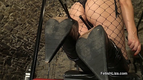 Worship My sharp leather boots