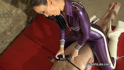 Wrapped and milked by latexclad Mistress part2