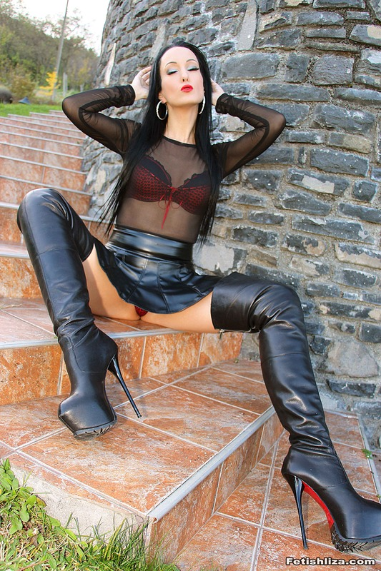 Was mistake leather skirt fetish sex boots for support