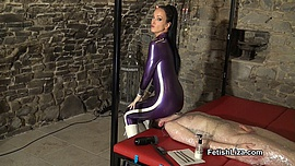 Wrapped and milked by latexclad Mistress part1