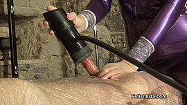 Wrapped and milked by latexclad Mistress part 2